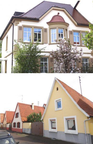Typische, ortsbildprägende Häuser in Oftersheim